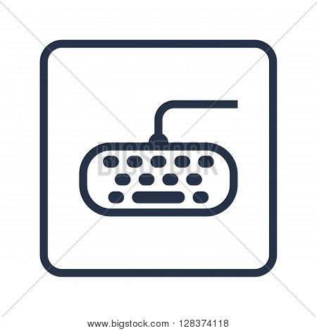 Keyboard Icon In Vector Format. Premium Quality Keyboard Symbol. Web Graphic Keyboard Sign On Blue R