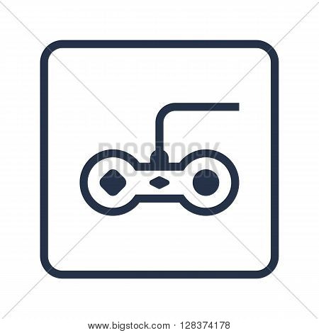 Joystick Icon In Vector Format. Premium Quality Joystick Symbol. Web Graphic Joystick Sign On Blue Round Background.