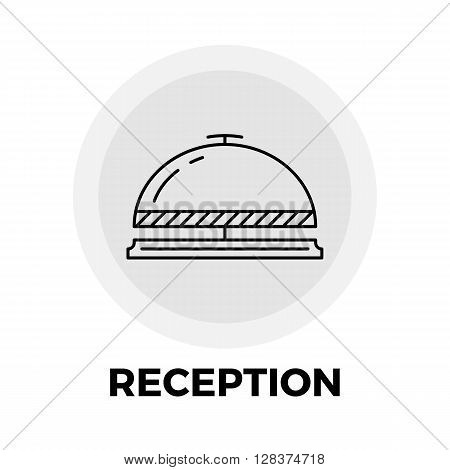Reception icon vector. Flat icon isolated on the white background. Editable EPS file. Vector illustration.