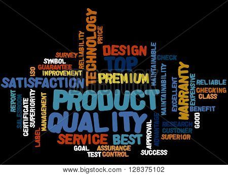 Product Quality, Word Cloud Concept 6