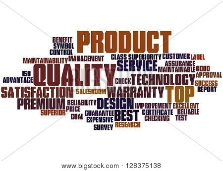 Product Quality, Word Cloud Concept 7