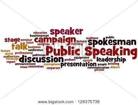 Public Speaking, Word Cloud Concept 5