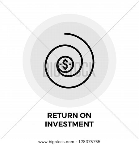 Return on Investment icon vector. Flat icon isolated on the white background. Editable EPS file. Vector illustration.