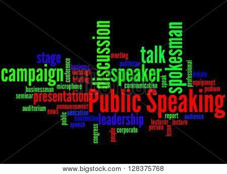 Public Speaking, Word Cloud Concept 6