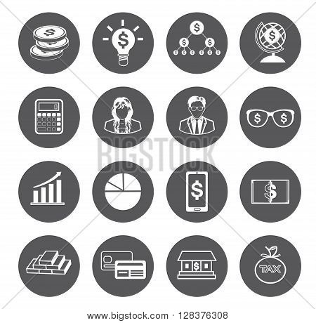 Modern flat business icons set.It's for advertising icons.