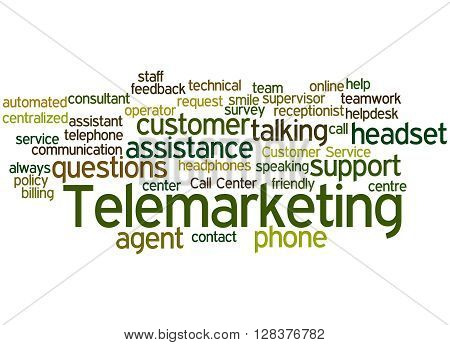 Telemarketing, Word Cloud Concept 7