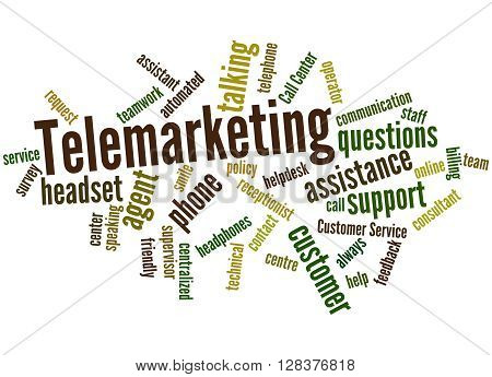 Telemarketing, Word Cloud Concept 8