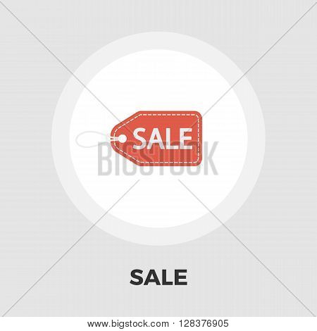 Sale Label icon vector. Flat icon isolated on the white background. Editable EPS file. Vector illustration.
