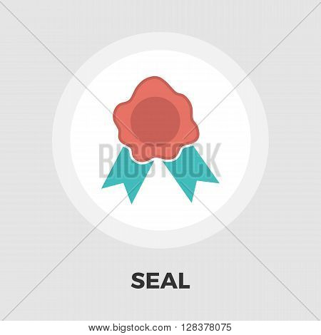 Seal icon vector. Flat icon isolated on the white background. Editable EPS file. Vector illustration.