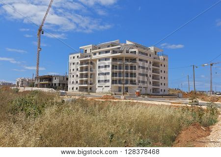Construction of a residential area in Israel.
