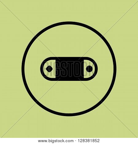 Game Console Icon In Vector Format. Premium Quality Game Console Symbol. Web Graphic Game Console Sign On Green Circle Background.