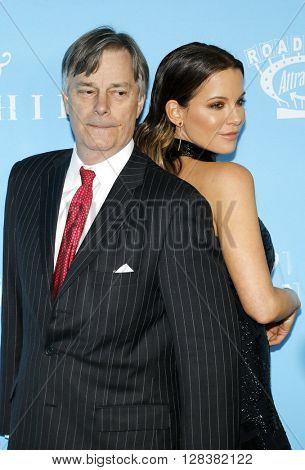 Whit Stillman and Kate Beckinsale at the Los Angeles premiere of 'Love And Friendship' held at the DGA Theater in Hollywood, USA on May 3, 2016.