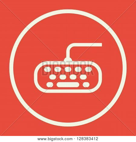 Keyboard Icon In Vector Format. Premium Quality Keyboard Symbol. Web Graphic Keyboard Sign On Red Ba