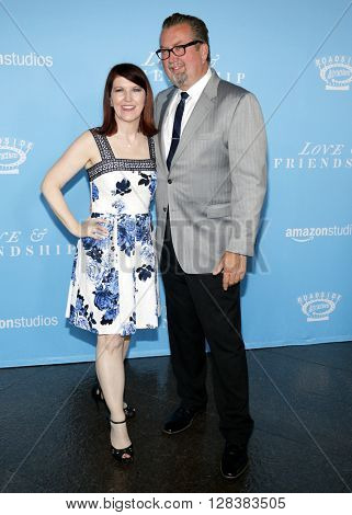 Chris Haston and Kate Flannery at the Los Angeles premiere of 'Love And Friendship' held at the DGA Theater in Hollywood, USA on May 3, 2016.