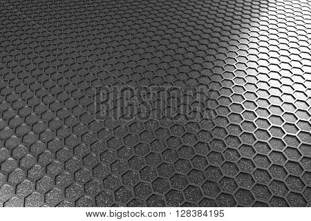 Hexagonal cell texture. Speaker grille. Fashion geometric design. Graphic style for wallpaper wrapping fabric apparel print production.3d rendering