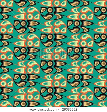 Background vector illustration seamless pattern abstract colored shapes.