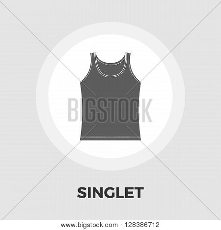 Singlet icon vector. Flat icon isolated on the white background. Editable EPS file. Vector illustration.