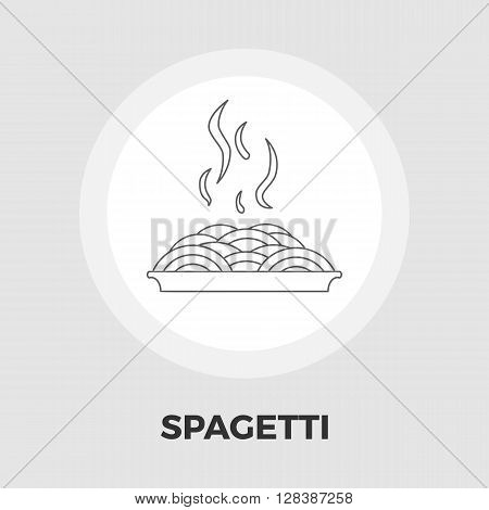 Spaghetti icon vector. Flat icon isolated on the white background. Editable EPS file. Vector illustration.