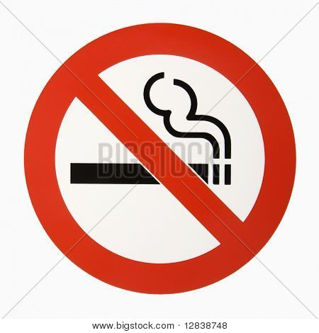 No smoking logo against white background.