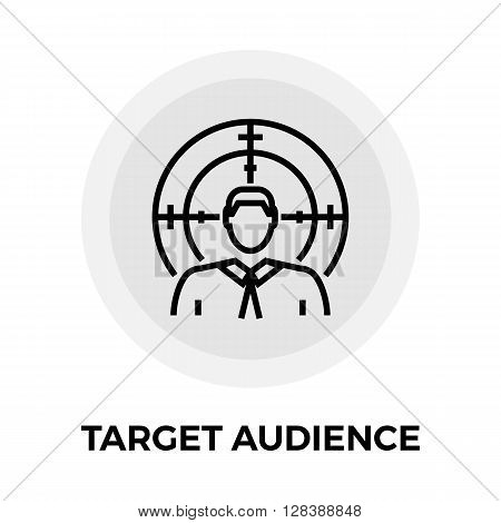 Target Audience icon vector. Flat icon isolated on the white background. Editable EPS file. Vector illustration.