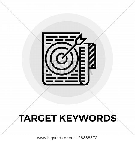 Target Keywords icon vector. Flat icon isolated on the white background. Editable EPS file. Vector illustration.
