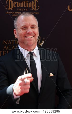 LOS ANGELES - MAY 1:  Sean Carrigan at the 43rd Daytime Emmy Awards at the Westin Bonaventure Hotel  on May 1, 2016 in Los Angeles, CA