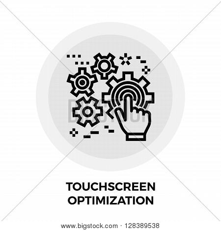 Touchscreen Optimization icon vector. Flat icon isolated on the white background. Editable EPS file. Vector illustration.