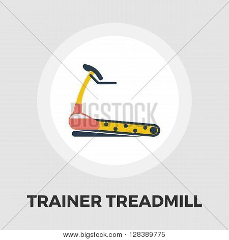Trainer treadmill icon vector. Flat icon isolated on the white background. Editable EPS file. Vector illustration.