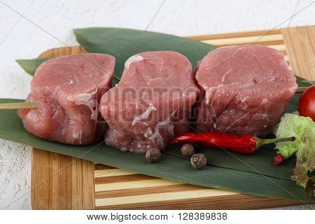 Raw Pork Fillet Mignon