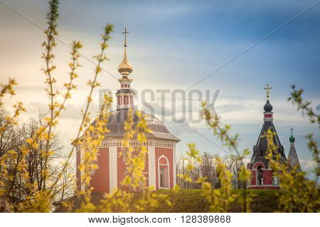 Russian Orthodox Church In The Sunlight. Tourism In Russia, Landmarks, Architectural Monuments