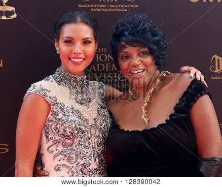 LOS ANGELES - MAY 1:  Felisha Cooper, Anna Maria Horsford at the 43rd Daytime Emmy Awards at the Westin Bonaventure Hotel  on May 1, 2016 in Los Angeles, CA