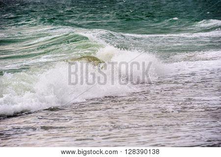 stormy sea tide