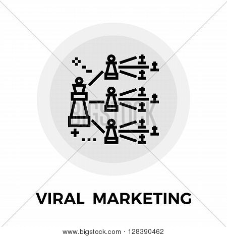 Viral Marketing icon vector. Flat icon isolated on the white background. Editable EPS file. Vector illustration.