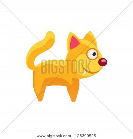 Cat Simplified Cute Illustration In Childish Colorful Flat Vector Design Isolated On White Background