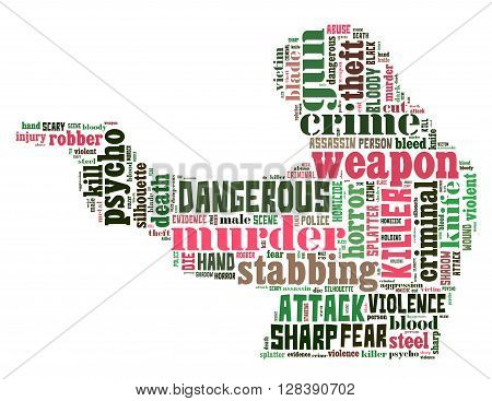 Gun Murder, Word Cloud Concept 7