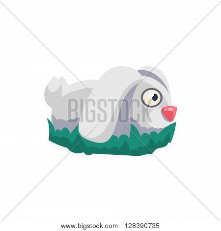 Rabbit Simplified Cute Illustration In Childish Colorful Flat Vector Design Isolated On White Background