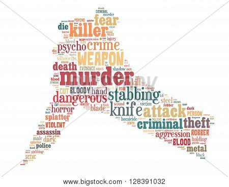 Knife Murder, Word Cloud Concept 2