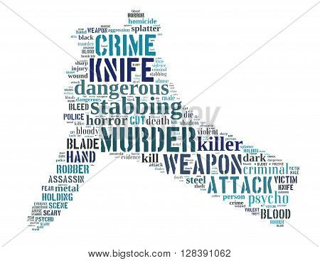 Knife Murder, Word Cloud Concept 3