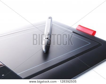 Graphic tablet, or drawing tabletfor designers or illustrators