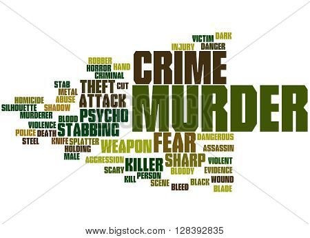 Murder, Word Cloud Concept 2