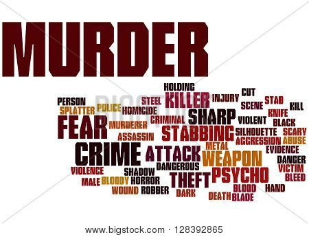 Murder, Word Cloud Concept 4