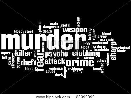 Murder, Word Cloud Concept 6