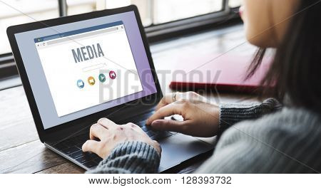 Media Digital Communication Television Social Concept