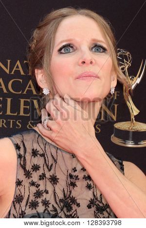 LOS ANGELES - MAY 1:  Lauralee Bell at the 43rd Daytime Emmy Awards at the Westin Bonaventure Hotel  on May 1, 2016 in Los Angeles, CA