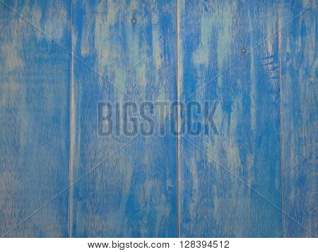 old wooden boards painted in a blue color