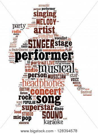 Singer Performer, Word Cloud Concept 2
