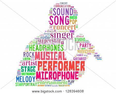 Singer Performer, Word Cloud Concept 3