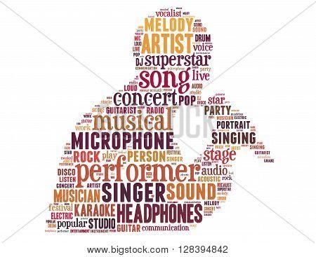 Singer Performer, Word Cloud Concept 5