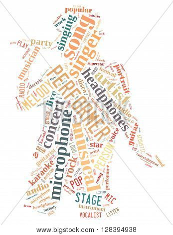 Singer Performer, Word Cloud Concept 8