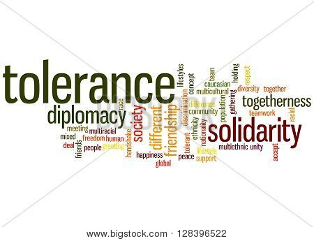 Tolerance Word Cloud Concept